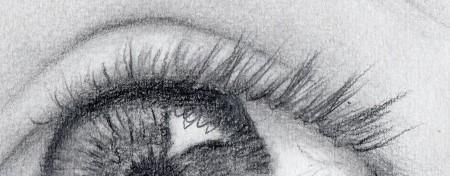 Naturally drawn upper eyelashes