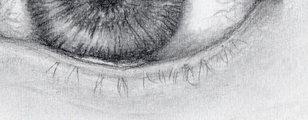 Naturally drawn lower eyelashes