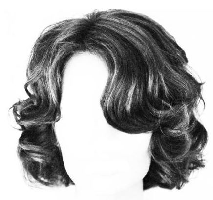 Hair in high contrast greyscale