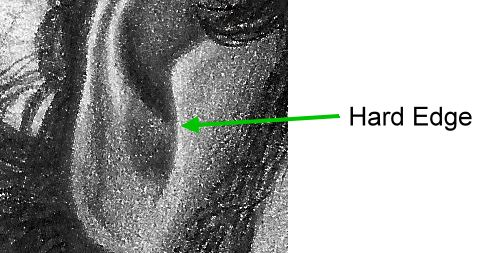 Ear hard edge example