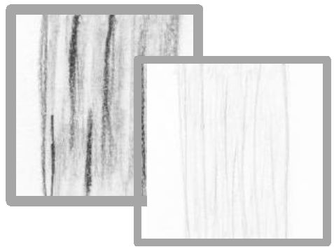 High contrast indicates coarse hair texture