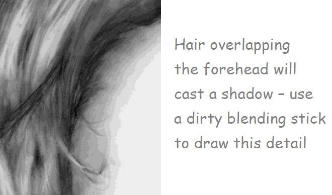 Hair casting shadow on face