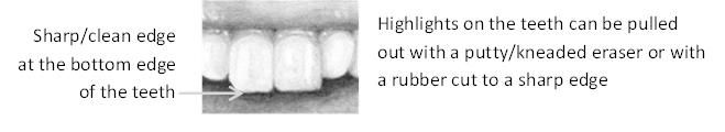 Teeth edges are sharp