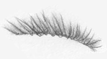 Too many eyelashes drawn in