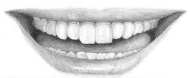 Completed teeth drawing
