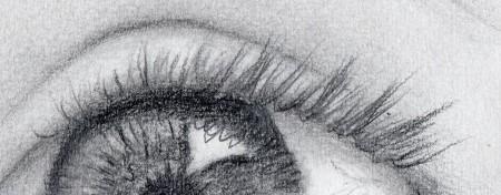 Naturally drawn upper eyelashes