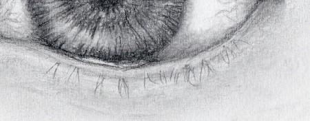 Naturally drawn lower eyelashes