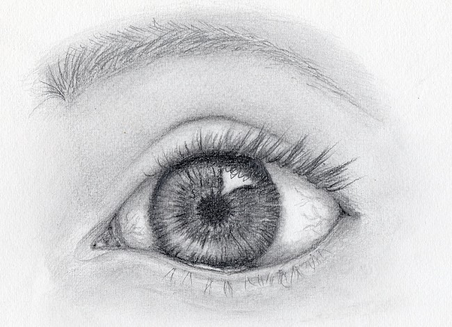 Final eye drawing